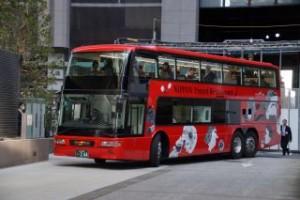 日本初2階建てオープントップのレストランバスが登場!
